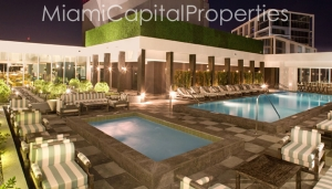 Club 50 Pool at night