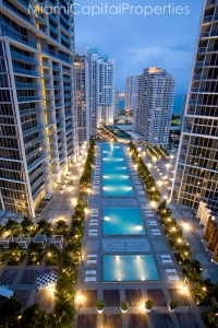 High Floor pool twilight view